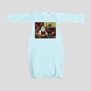Santa's Welsh Terrier Baby Gown