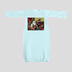 Santa's 2 Dobermans Baby Gown