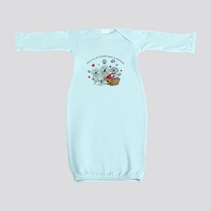 No Love Like A Maltese Baby Gown