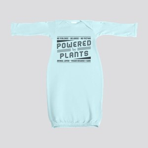 No Violence Powered by Plants Baby Gown