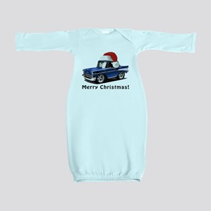BabyAmericanMuscleCar_57BelR_Xmas_Blue Baby Gown