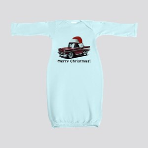 BabyAmericanMuscleCar_57BelR_Xmas_Winred Baby Gown