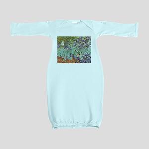 Van Gogh Irises, Vintage Post Impression Baby Gown