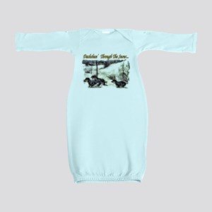 Dachshund Christmas Baby Gown