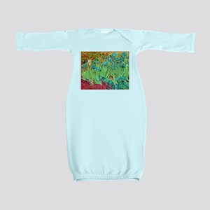 van gogh teal irises Baby Gown