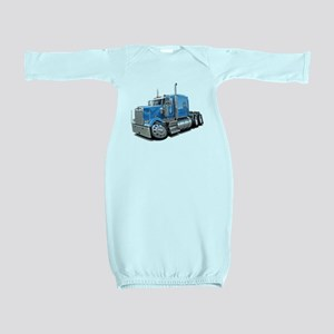 Kenworth W900 Lt Blue Truck Baby Gown