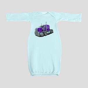 Kenworth W900 Purple Truck Baby Gown