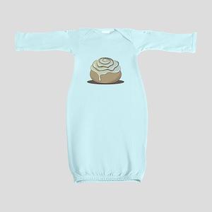 Cinnamon Bun Baby Gown