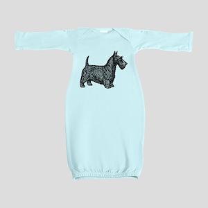 Scottish Terrier Baby Gown