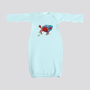 Dancing Crab Baby Gown