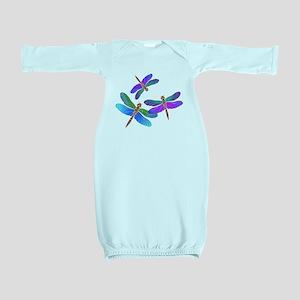 Dive Bombing Dragonflies Baby Gown