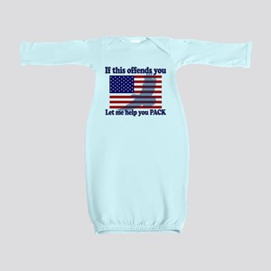 Flag Eagle Patriot Baby Gown