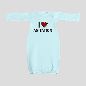 I Love Agitation Digitial Design Baby Gown