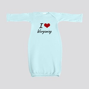 I Love Wargaming artistic Design Baby Gown