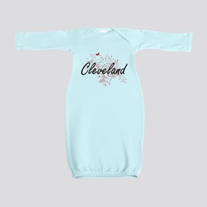 Cleveland Ohio City Artistic design with Baby Gown