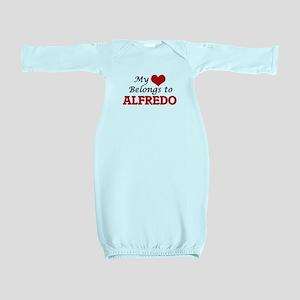 My heart belongs to Alfredo Baby Gown