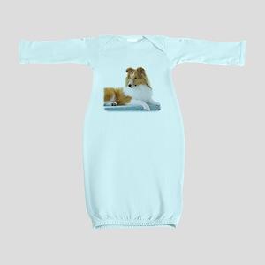 Shetland Sheepdog AF113D-030 Baby Gown
