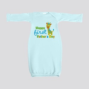 Giraffe 1st Fathers Day Baby Gown