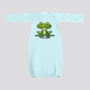 Cute Green Frog Baby Gown