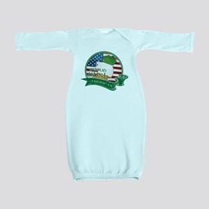 Proud Irish American Baby Gown