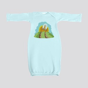 Covered Wagon Baby Gown
