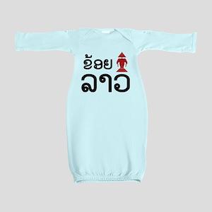 I Love (Erawan) Lao - Laotian Language Baby Gown