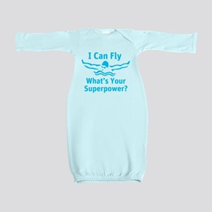 I can Fly What's Your Superpower Baby Gown