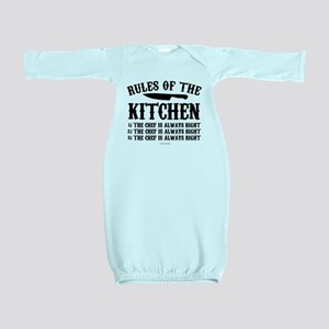 Rules of the Kitchen Baby Gown