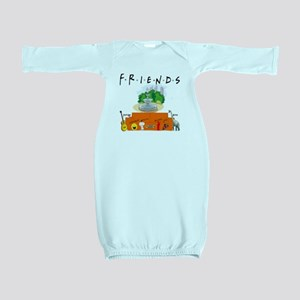 Friends TV Show Symbol Collage Baby Gown