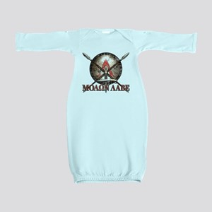Molon Labe - Spartan Shield and Swords Baby Gown