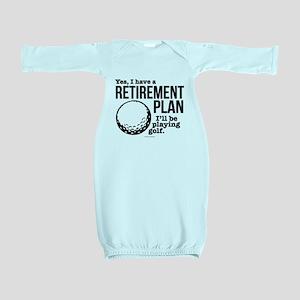 Golf Retirement Plan Baby Gown