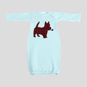 Scottish Terrier Tartan Baby Gown
