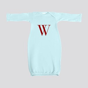 W-bod red2 Baby Gown