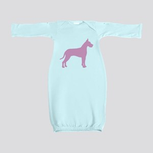 great dane pink Baby Gown