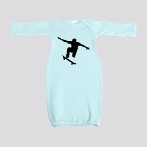Skateboarder Silhouette Baby Gown