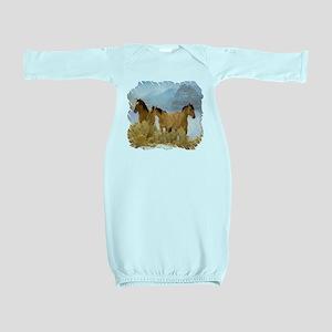 Buckskin Horses Baby Gown