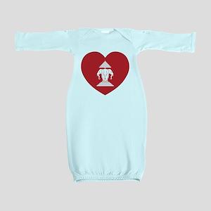 Laotian Erawan 3 Headed Elephant Heart Flag Baby G