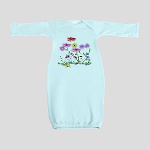 Flower Bunch Baby Gown
