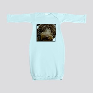 Chocolate Doodle Baby Gown