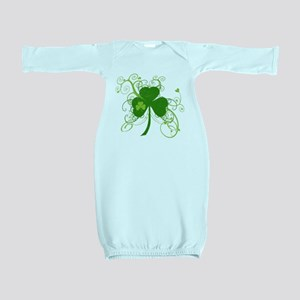 St Paddys Day Fancy Shamrock Baby Gown