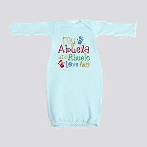 Abuelo and Abuela Love Me Baby Gown