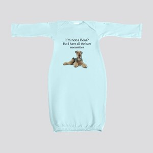 Airedale Surprised He Isn't a Bear Baby Gown