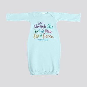 Shakespeare She Is Fierce quote Baby Gown