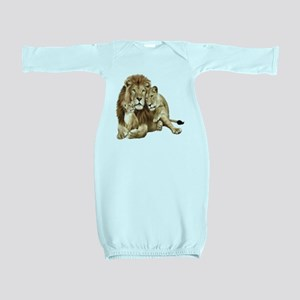 Lion And Cubs Baby Gown