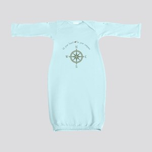Heart Your Compass Baby Gown
