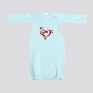 TREBLE MUSIC HEART Baby Gown