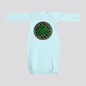 Shamrock And Celtic Knots Baby Gown