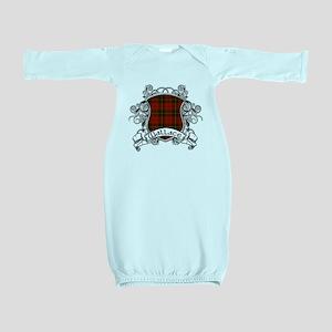 Wallace Tartan Shield Baby Gown