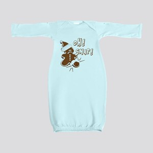 FUNNY OH Snap Gingerbread Man Baby Gown