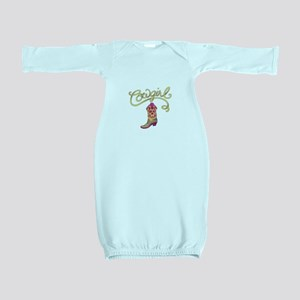 COWGIRL BOOT Baby Gown